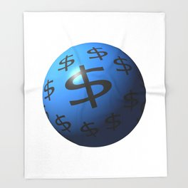 Dollar Sphere Throw Blanket