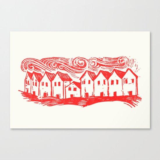 Sad Row (Red) Canvas Print