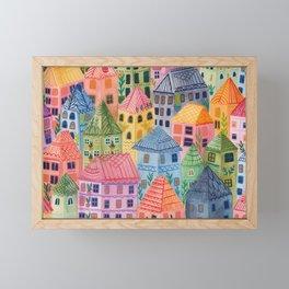 Summer City Framed Mini Art Print
