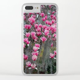 Beauty In Pink And Gray Clear iPhone Case