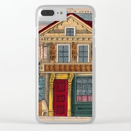 A back-drop scene to be used in a children's theatre production. Coloured lithograph. Clear iPhone Case