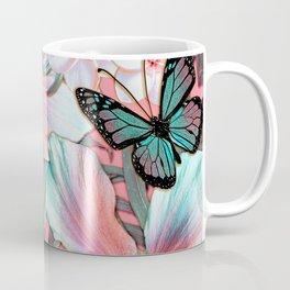 Peachy Mint Hibiscus Tropical Coffee Mug
