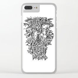 Melting Horse Clear iPhone Case