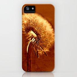 glowing dandelion on bright marsala iPhone Case