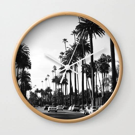 Los Angeles Black and White Wall Clock