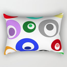 Cirlces within Circles Rectangular Pillow