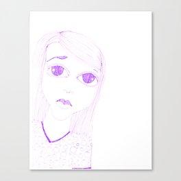 purple sadness1 Canvas Print