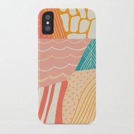 beach quilt iPhone Case