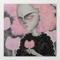 loll3 Canvas Prints featuring Momoko by lOll3