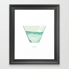 Cocktail Hour: Gibson Framed Art Print