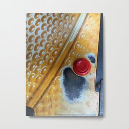 Red Button Metal Print