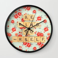 Be Kind To Yourself Wall Clock