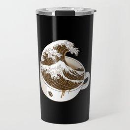 The Great Wave off Coffee Travel Mug