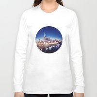 nashville Long Sleeve T-shirts featuring One night in Nashville by GF Fine Art Photography