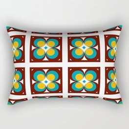 Atomic Flowers Retro Vintage Shapes Graphic Rectangular Pillow