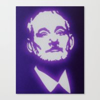 bill murray Canvas Prints featuring Bill Murray by Beastie Toyz