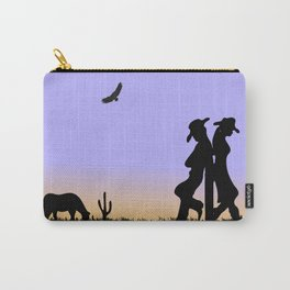 Western Cowboy and Cowgirl on the Range Carry-All Pouch