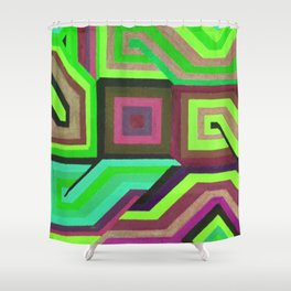 Love and Logic Colour Variation2 Shower Curtain