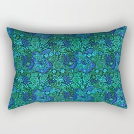The Shape of Water Colour Scheme Tribute Pattern Rectangular Pillow