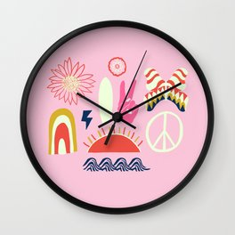 peace + harmony + surf Wall Clock