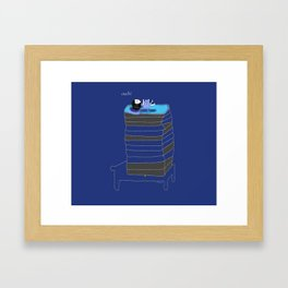 Bluey is sensitive Framed Art Print