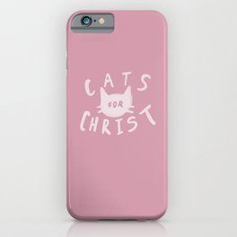 Cats for Christ x Rose iPhone Case