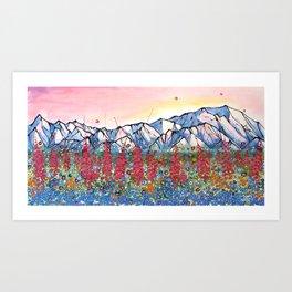 Denali Alpenglow Art Print