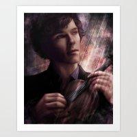sherlock Art Prints featuring Sherlock by jasric