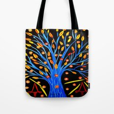 Blue tree/abstract Tote Bag