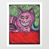 the magnificent Mr. Cheshire cat  Art Print