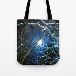 Blue Snow Moon Glow Tote Bag