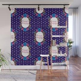 Cute Feminist Killjoy Floral Pattern Wall Mural