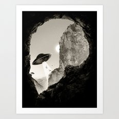 Alien´s Head Art Print