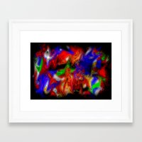 psych Framed Art Prints featuring Psych out by JT Digital Art