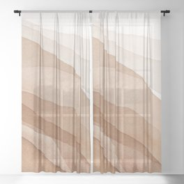 Mountains and hills Sheer Curtain