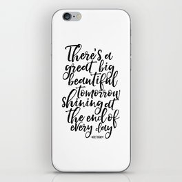 PRINTABLE Art, Quote,Kids Room Decor,Nursery Decor,Quote Prints,Typography Print Walt iPhone Skin