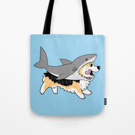 Another Corgi in a Shark Suit Tote Bag