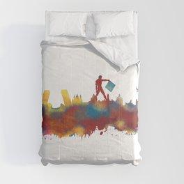 Madrid skyline Comforters
