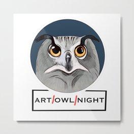 Art owl night art all night Metal Print