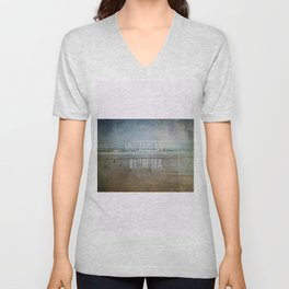 You and me, by the sea Unisex V-Neck