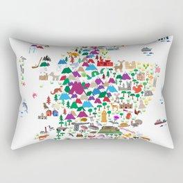 Animal Map of Scotland for children and kids Rectangular Pillow