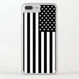 USA flag - HiDef Super Grunge Patina Clear iPhone Case