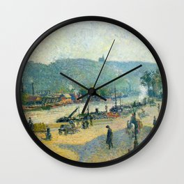 "Camille Pissarro ""Place Lafayette, Rouen""(""The Quays at Rouen"") Wall Clock"