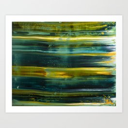 Abstract artwork #18/1 - The Green Light Of Nature - Abstract painting Art Print