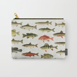 Illustrated North America Game Fish Identification Chart Carry-All Pouch