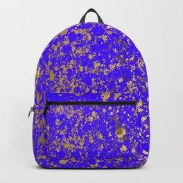 Indigo Blue and Gold Patina Design Backpack