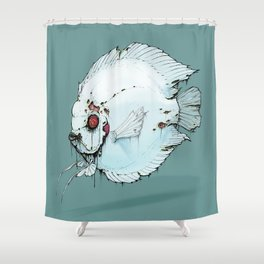 Zombie Discus Shower Curtain