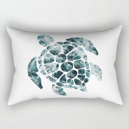 Sea Turtle - Turquoise Ocean Waves Rectangular Pillow