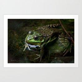 Frog Floating Art Print