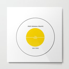 Game Inspired - Not Gonna Waste My Balls on You - Team Yellow Metal Print